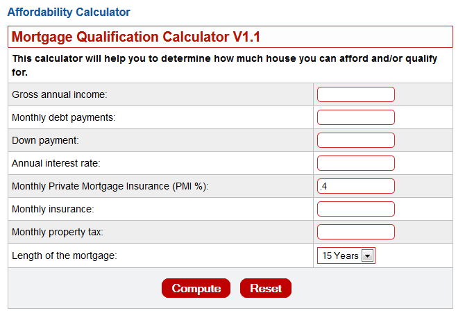 how much mortgage can i afford calculator