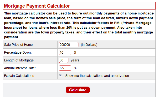 MortgageMonthlyPaymentCalculator