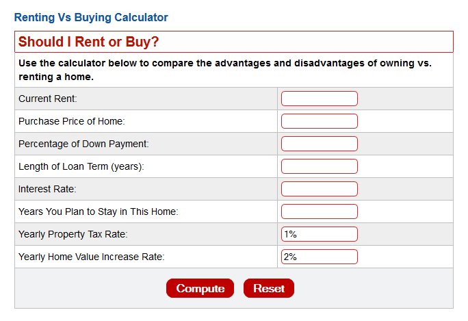 Rent-vs-Buy-Calculator